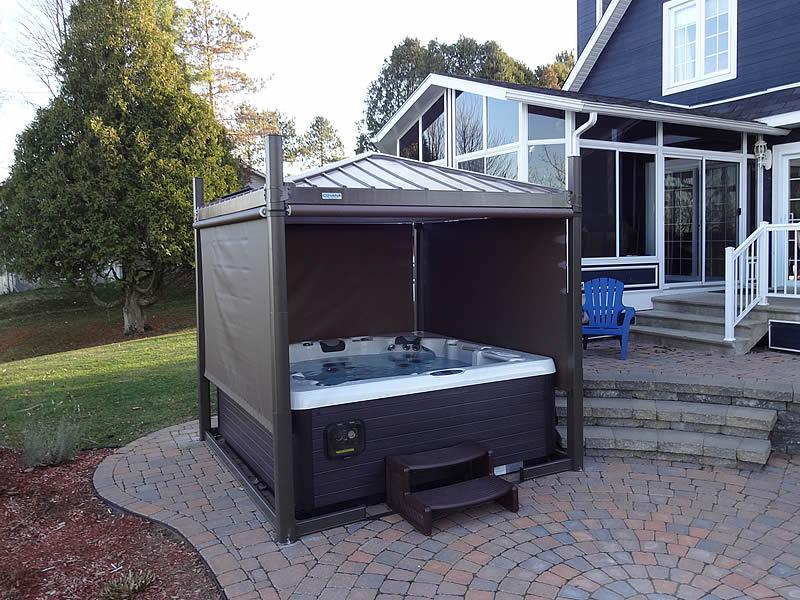 Aquidneck Pools Spas Covana Automatic Spa Cover