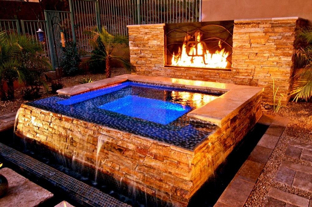 Aquidneck pools spas phoenix backyard spa construction for Spa construction